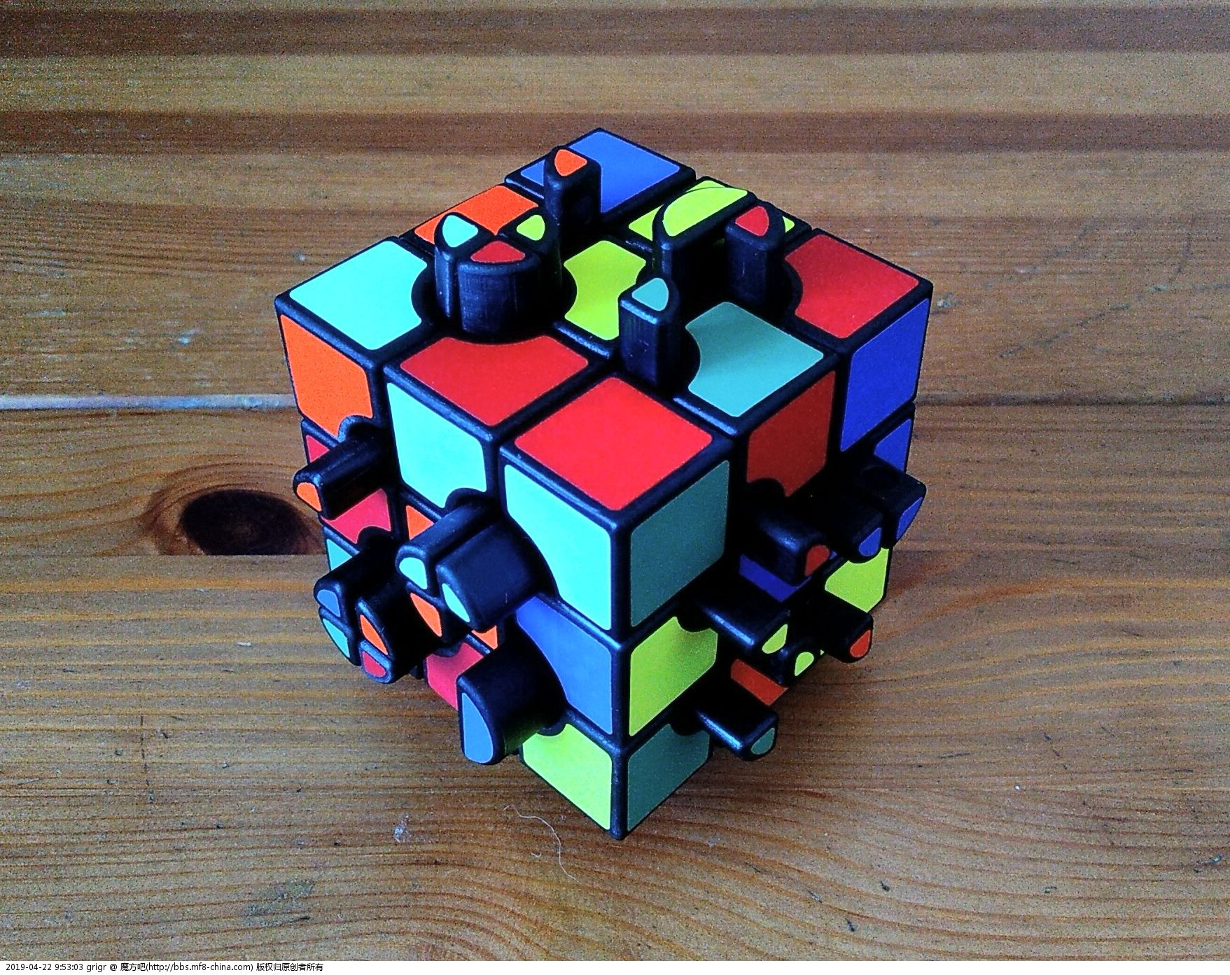 Button Cube 12 -my version of Tim Selkirk cube (DLP Prining)